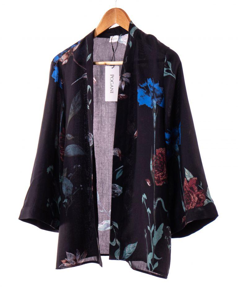 Bluza petrecuta cu imprimeu floral